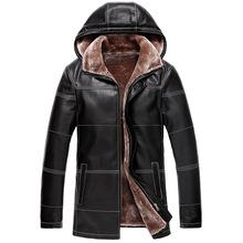 2015 New Autumn Winter Dress Jaqueta Couro Masculino Causal Sheepskin Fur Coat Leather Jacket For Men Long Leather Coat(China (Mainland))