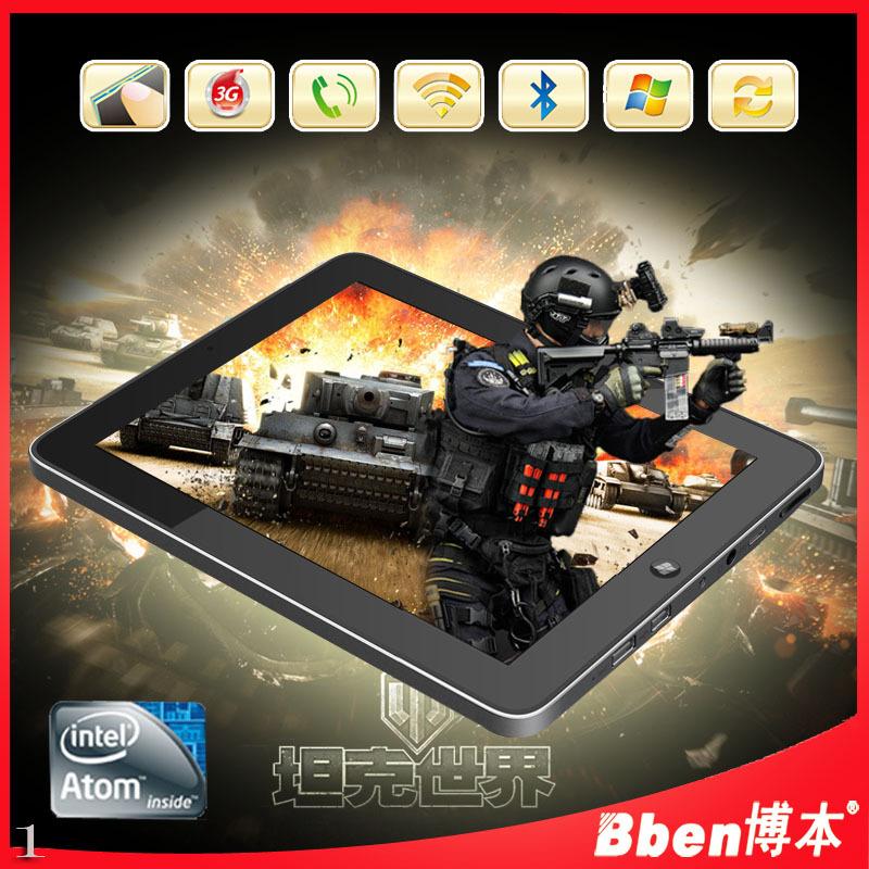 Original 9.7 inch 2GB RAM 64GB ROM intel N2600 CPU dual core windows 7 3g phone tablet pc windows tablet pc 3g tablet phone(China (Mainland))