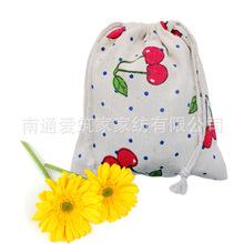 2016 Estuches School Trousse Scolaire Stylo Wholesale Cotton Bags Mianma Cloth Pocket Cherry Folding Drawstring Bag 14*16cm Az(China (Mainland))