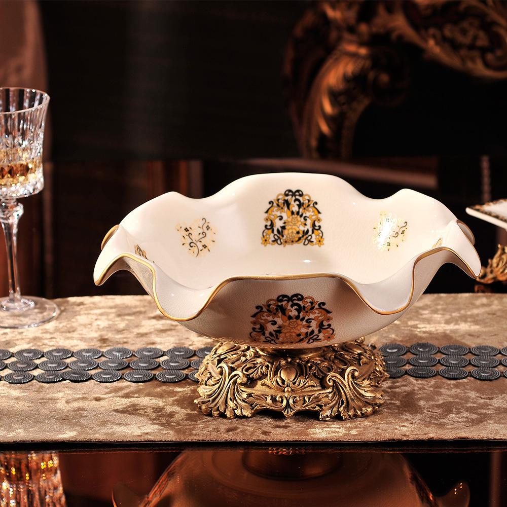selling European Home Furnishing decorative ceramic handicraft decoration Decal wedding gifts ceramic fruit plate(China (Mainland))
