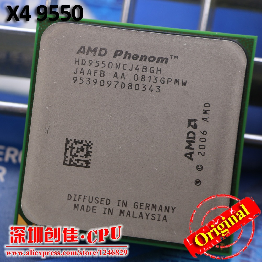 Original AMD CPU Phenom X4 9550 processor 2.2G AM2+/ 940 Pin /Dual-CORE / 2MB L2 Cache/95w Free Shipping scattered piece(China (Mainland))