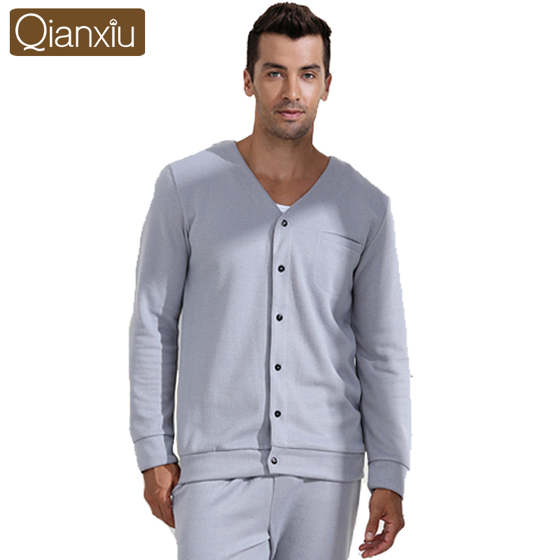 2013 new fashion sleepwear for men casual style with pajama sets long sleeve solid color nightygown and sleepshirt best quality