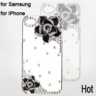3D Diamond for iphone 5 4 4g 4s 3gs Samsung galaxy s4 s3 note 2 i9500 i9300 luxury fashion Case Bling Free Shipping 1 piece(China (Mainland))