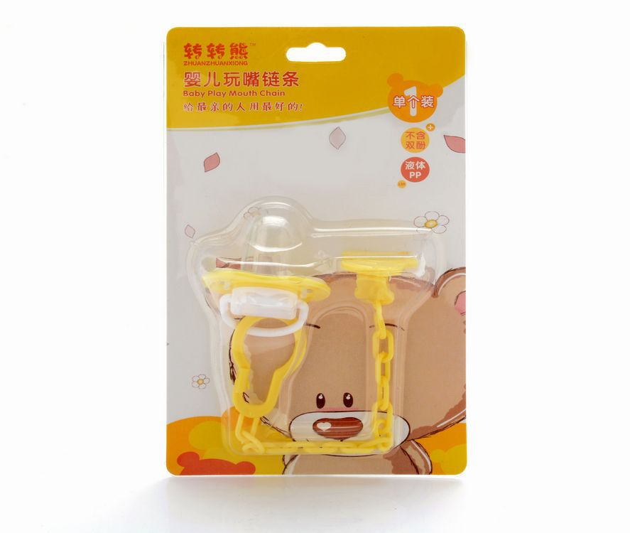 2016High Quality Baby Pacifier Feeding Dummies Soother Nipples Soft Feeding Tool Bite Gags Boys & Girls+ Pacifier chain anti-out