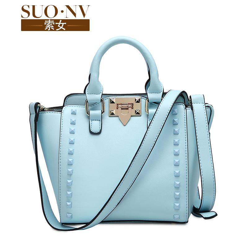 Female spring and summer fashion wings 2015 fashion bag rivet bag swing bag portable small cross-body bag(China (Mainland))