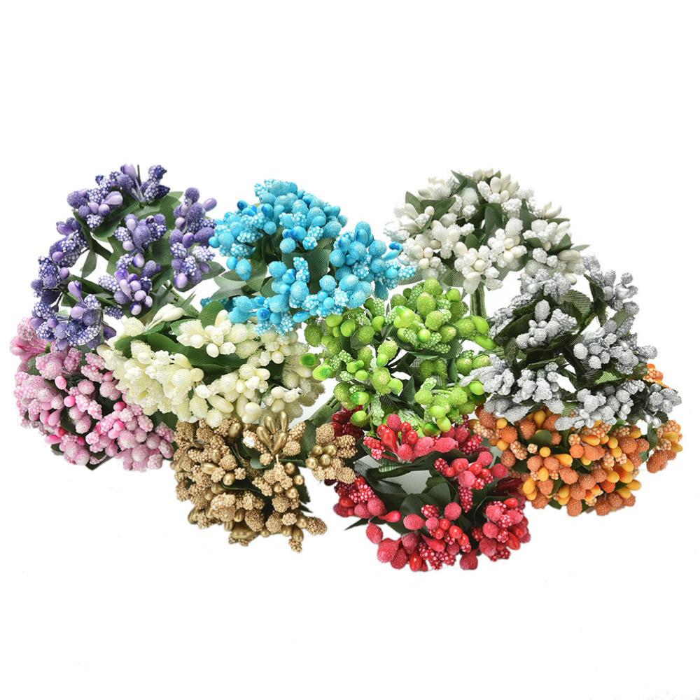 Artificial Bud Stamen Berry Bacca Flower For Wedding Decoration