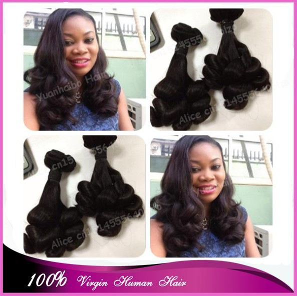 "Top 7A Grade off black #1b virgin brazilian hair tip curls funmi hair wefts for black women 8""-30"" in stock! free shipping(China (Mainland))"