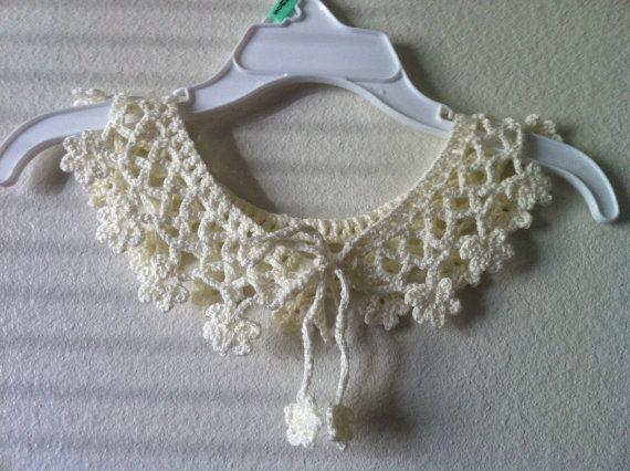 Wedding necklace Crochet Collar Choker Cream Flower Necklace, party accessories 4pcs/lot