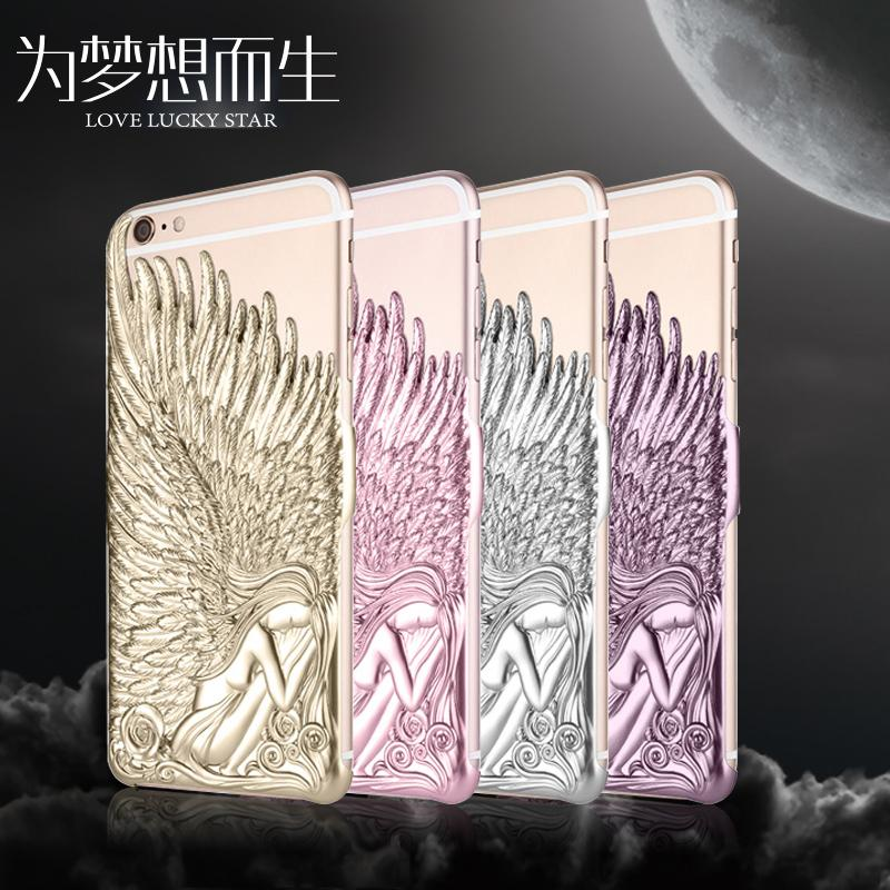 """Multicolor Angel Wings Plating Phone Shell For iPhone 6 6s 4.7"""" 6 6s Plus 5.5""""(Assorted Colors)(China (Mainland))"""