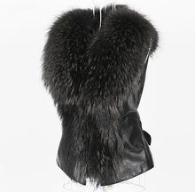 2015 winter keep warm women fake fur vest PU patchwork with bow high quality lady fur waistcoat plus size XXXL CH555(China (Mainland))