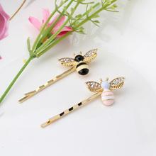 New 1PC Cute Bee Rhinestone Barrette Girls Hair Accessories Hair Clip Lovely Hairpin Hair Ornaments