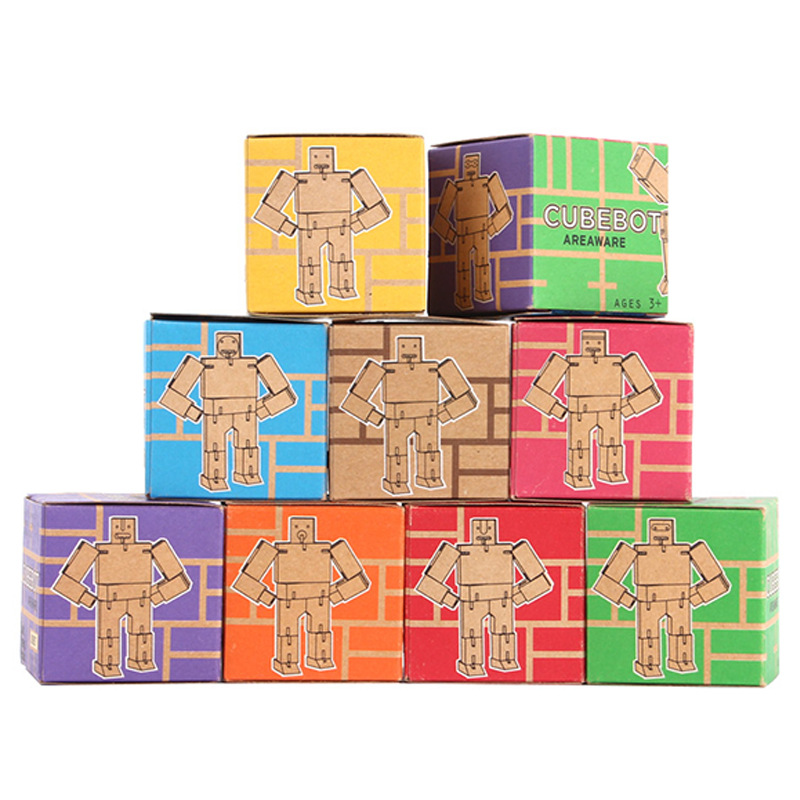 The new ideas of wood robot magic cube creative children's educational toys changed Figures(China (Mainland))