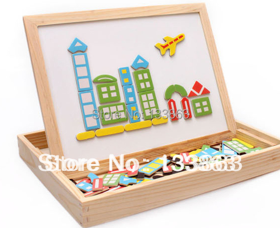 Magnetic Wooden Toys Kids/Child/Children Double-faced 3d Puzzle Baby Gift/educational toys- - Grace &Retail Store store