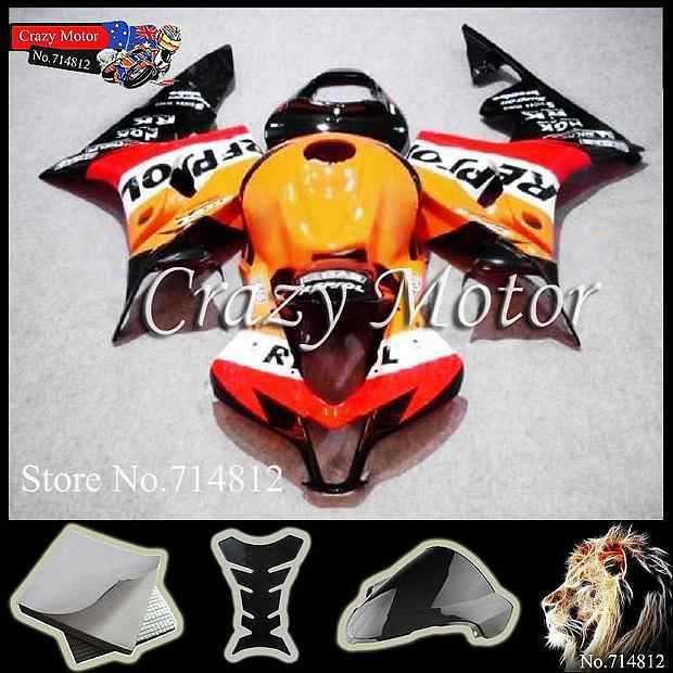 * REPSOL black white red Yellow CBR600RR 2007 2008 INJ 2007-2008 Fairings INJECTION MOLD Body Kit Fairing Honda CBR 600 RR 2 - Crazy Motor store