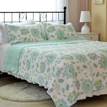 Style européen de jardin papillon fleur imprimé couette d'été pur coton couvre-lit 3 pcs reine / roi taille été boutis pour les ventes(China (Mainland))