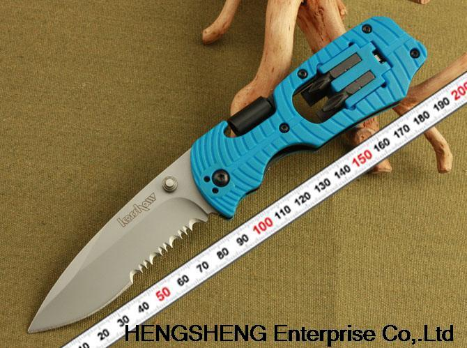free shipping New Kershaw Select Fire knife & Screwdriver Multi-tool 1920 blue handle best gift(China (Mainland))