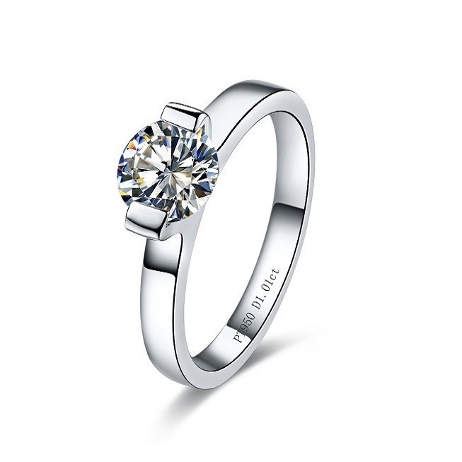 1 ct Romantic Fashion brands Synthetic Diamond Engagement Wedding Rings For W