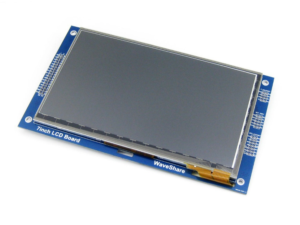 7inch Capacitive Touch LCD (C) 800*480 Pixel Multicolor Graphic LCD, TFT I2C Touch Screen Display Module Embedded 10KB ROM(China (Mainland))