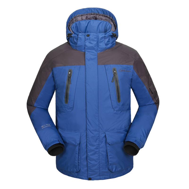 2015 Fashion Men Outdoor Down Jacket 90 White Duck Down Water Resistant Snowboarding Jacket Men Winter