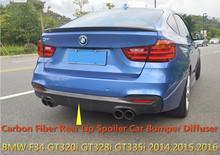 For BMW F34 GT320i GT328i GT335i 2014.2015.2016 Carbon Fiber Rear Lip Spoiler Car Bumper Diffuser Auto Modification Accessories