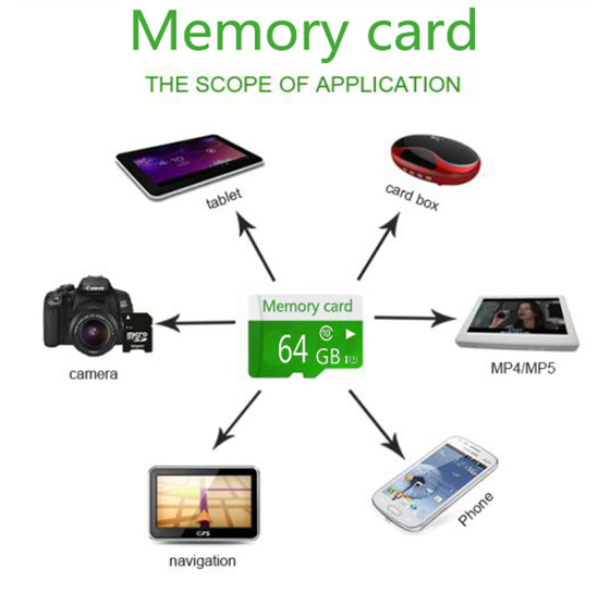 Promotion Green TF Memory Card 8GB 16GB Micro card+ adapter T-Flash micro Transflash 2GB 4GB 32GB T5 class 6/10 BT5 - MicroDeal international's store