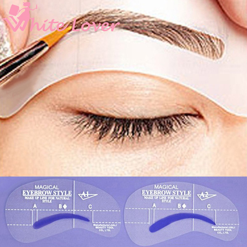4 styles/set Grooming Stencil Kit Shaping DIY Beauty Eyebrow Template Make Up Tool 24 setyles #2404(China (Mainland))