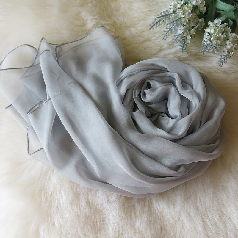 Elegant Clean Style Solid Color Women Scarf Shawl Autumn Winter Large Size Silk Scarf Plaid Pural Foulard Scarf Wraps Echarpe(China (Mainland))