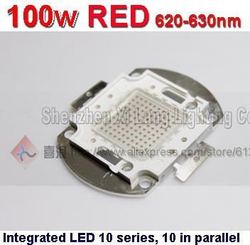 Free ship 100W LED Integrated High power LED Beads RED Blue Yellow Taiwan Genesis's Chips Free ship(China (Mainland))