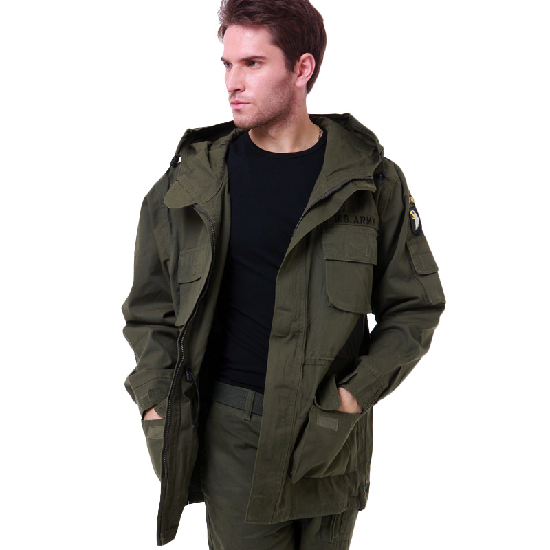 Mens Winter Military Cotton Brand Jackets 101st Airborne Division Outdoor Wadded Warm Hooded Jacket Men Army Trench Coat Одежда и ак�е��уары<br><br><br>Aliexpress