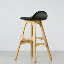 ashwood bar chair solid ash bar stool nordic style furniture seat(China (Mainland))