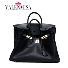 Luxury Famous Brand Cowhide Genuine Leather Bags Designer Handbags High Quality Tote Shoulder Bags For Women Bag 25cm 30cm 35cm(China (Mainland))