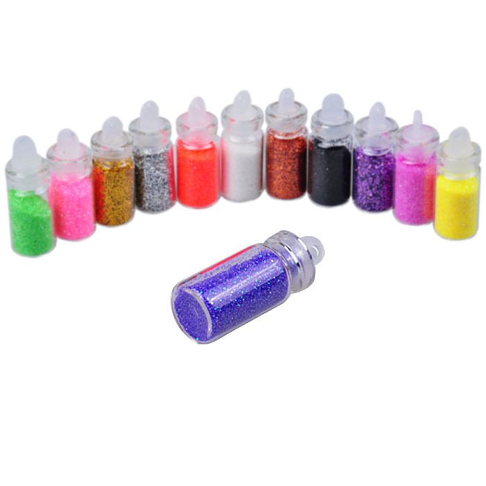 Biutee 12 Colors Dust Glitter Sparkle Nail Tip Decorations Nail Art Power Set(China (Mainland))