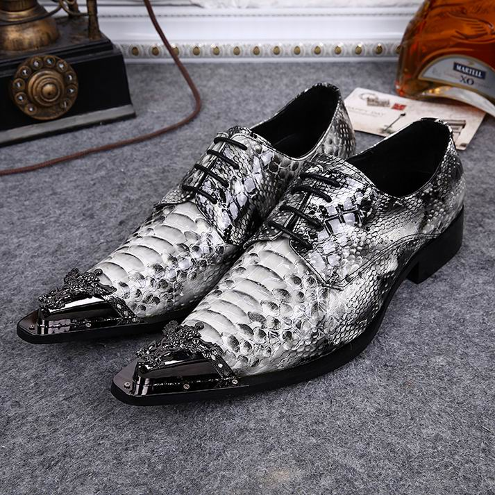 new italian Style cowhide snake grain leather qshoes shoe mens business men man dress casual fashion pointed steel toe shoes o75(China (Mainland))