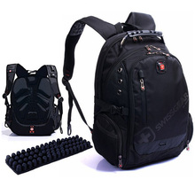 2016 new fashion laptop functional computers Men Backpack pattern Sport Bags swiss school boys girl style bag high nylon quality