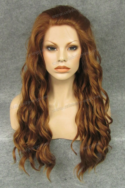 N6-30Y/27HY long blonde  color stock top quality fashional style synthetic body wave lace front wig<br><br>Aliexpress