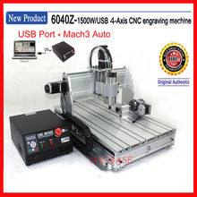 USA SHIPPING !  USB Port + 4th 4 axis four axis 1500W  6040  cnc router / cnc engraving MILLING machine / cnc desktop engraver(China (Mainland))