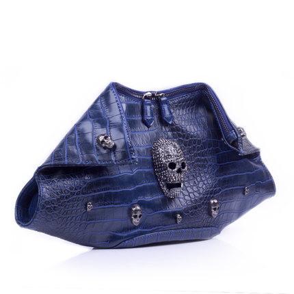 Top luxury 2015 new skull dumplings hand bag fashion brand ladies handbags casual simple quality Messenger Bags dinner party bag(China (Mainland))