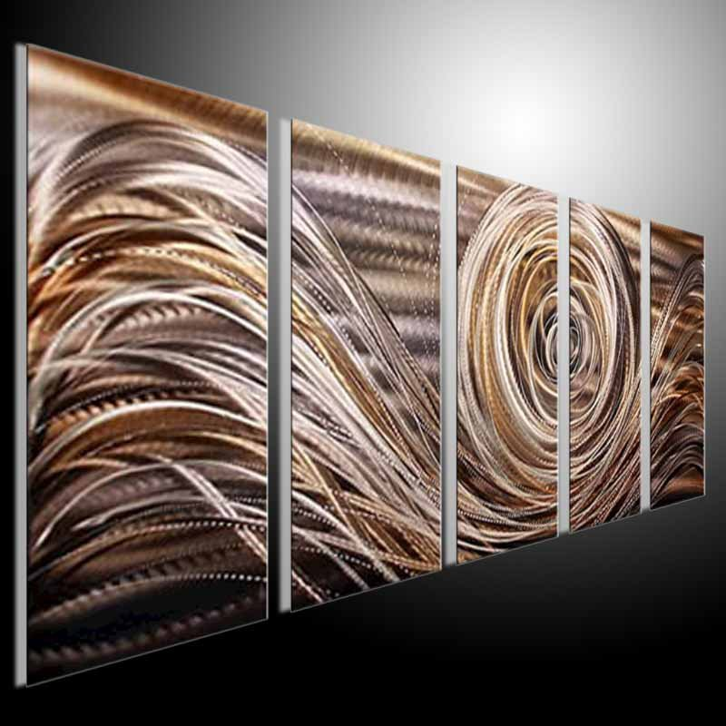 Metal modern abstract wall art painting abstract metal for Contemporary wall art