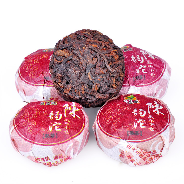 Dropshipping Chinese Tea Five-year Dry Position CHEN Yun Da Pu'er Ripe Tea mini Tuo Cha Special offer+Gift bag 50pcs/lot(China (Mainland))