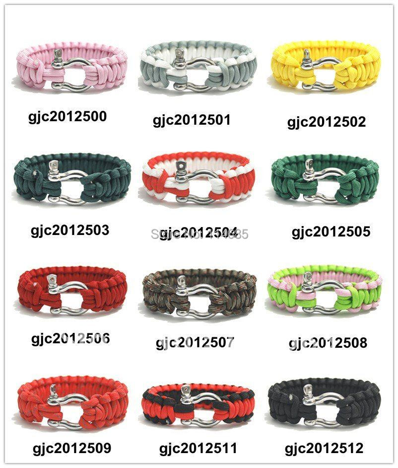 stainless steel Buckle Paracord 550 Survival Bracelet Wristband Wholesale(China (Mainland))