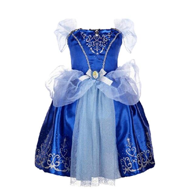 Одежда выставочный в 2015 году летом новый золушка платье раза девочка носила платье принцессы золушка ну вечеринку девочки носить