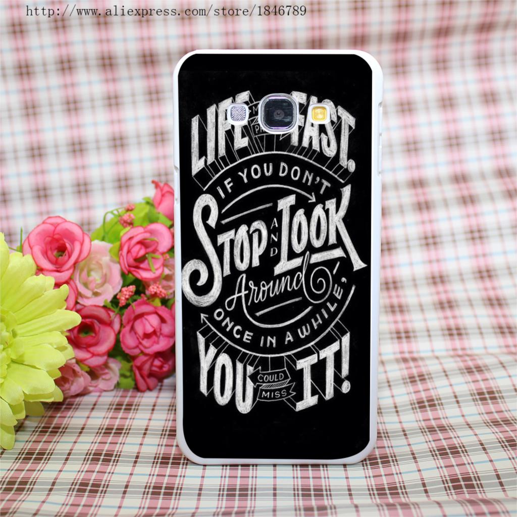 Trendy Hipster Style White Hard Case Cover for Galaxy A3 A5 A7 A8 Note 2 3 4 5(China (Mainland))