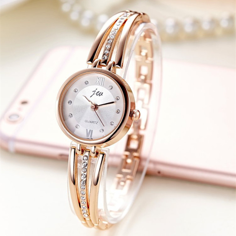 New fashion 2016 luxury rhinestone watches women stainless steel quartz watch for ladies dress for Watches for women