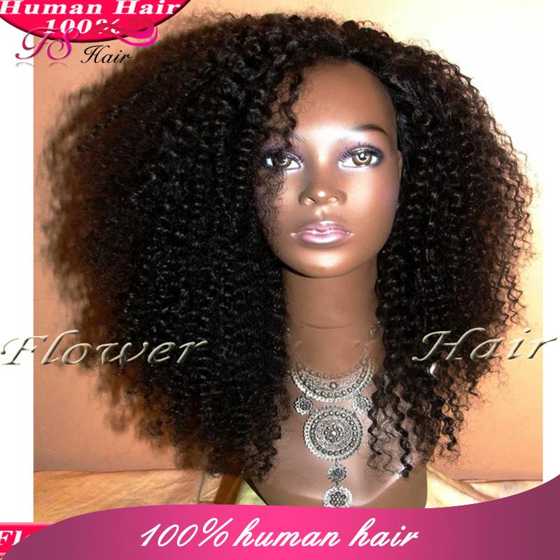 Aliexpress.com : Buy Virgin U Part Wig Kinky Curly Half Wigs Brazilian ...