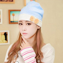 2016 Maternity Windproof Cap Pregnant Hat Maternal Mother Floral Beanies(China (Mainland))