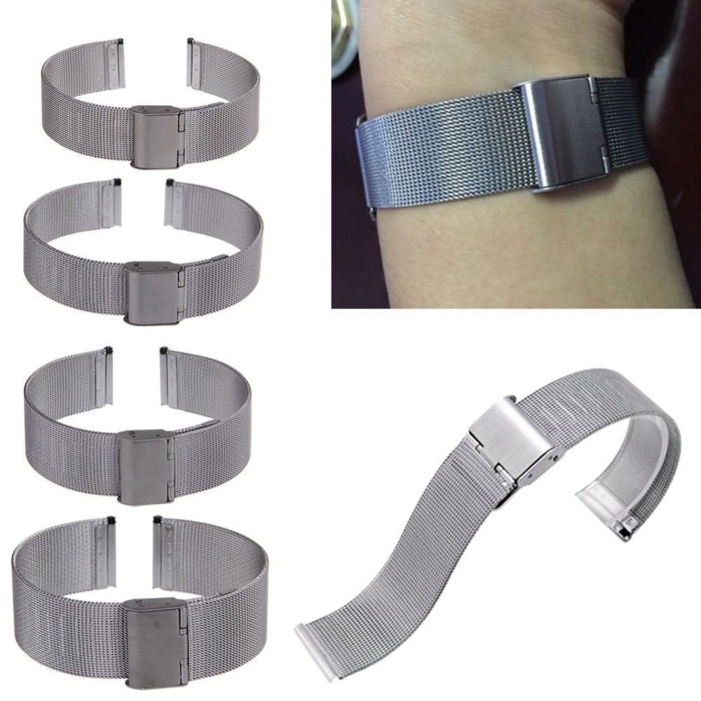 3-east 18 mm pulseiras de relógio de aço inoxidável assista malha pulseiras Strap perfeito artesanato banda moda(China (Mainland))