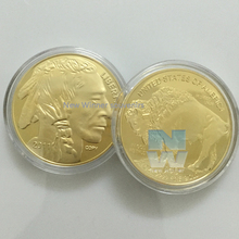 """the """"copy"""" on the lock-of-hair 2011 lndian Head Liberty metal coin 1 oz 100 mills .999 fine gold American BUFFALO replica coins(China (Mainland))"""