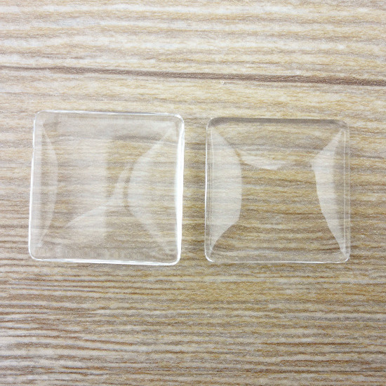 High quality 11 pcs/lot Half Square 25*25*5 mm Time Gem crystal glass for DIY Bottle cap sticker(China (Mainland))