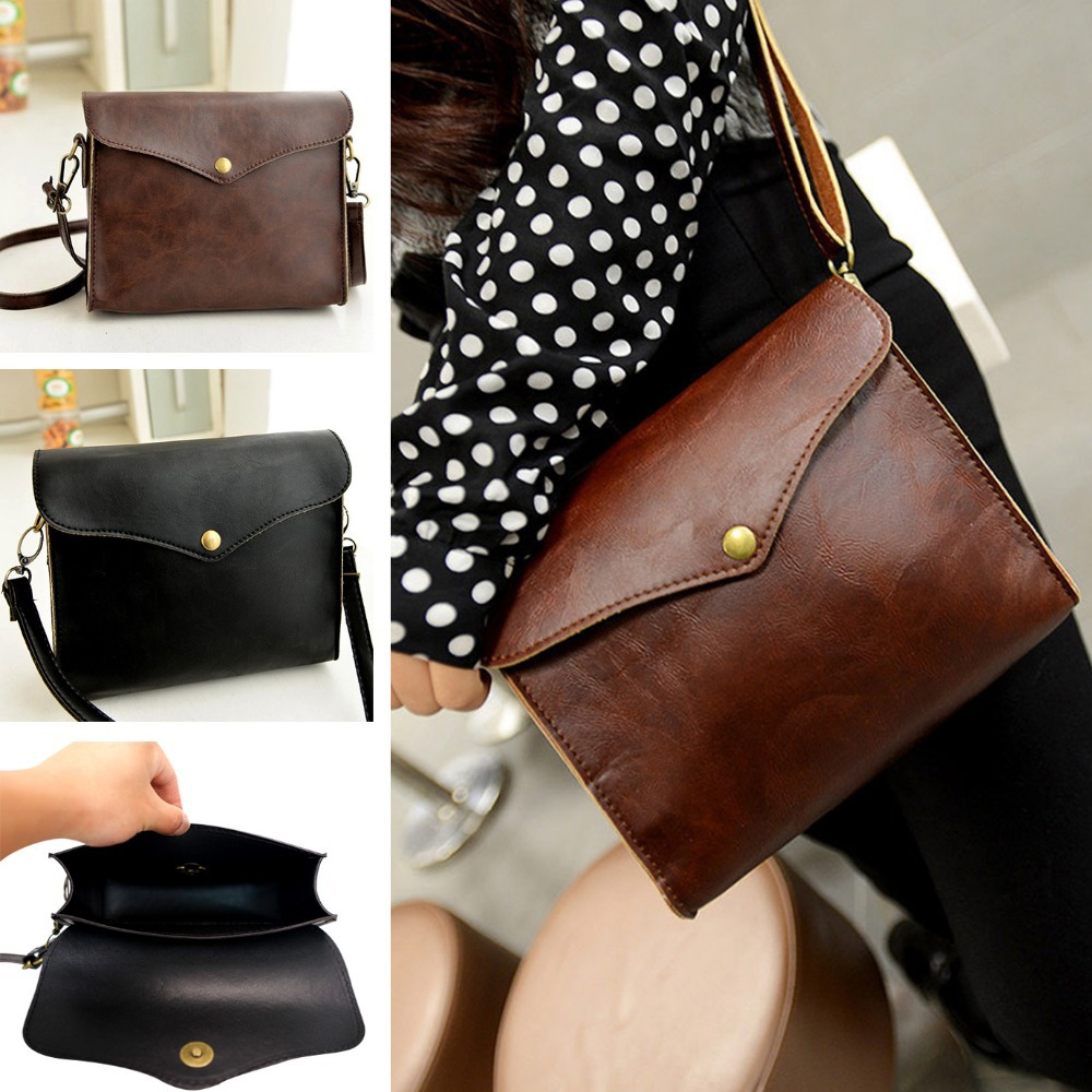 Faux Leather Shoulder Bag Single shoulder bag Women Handbag Tote Purse Girl Messenger(China (Mainland))