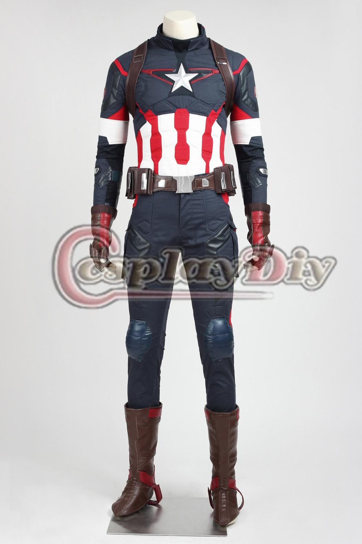 Avengers: Age of Ultron Captain America Costume Adult Mens Superhero Halloween Carnival Costume Custom MadeОдежда и ак�е��уары<br><br><br>Aliexpress